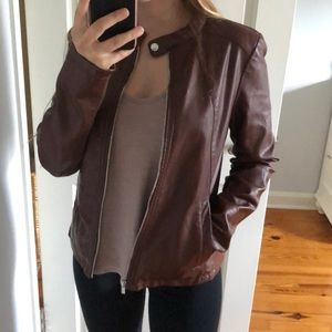 EXPRESS faux leather jacket (S)